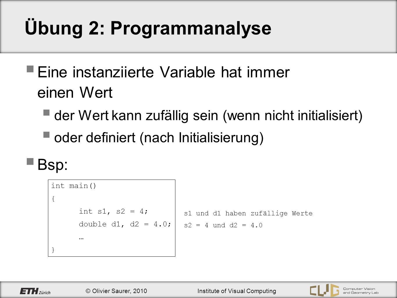 Übung 2: Programmanalyse