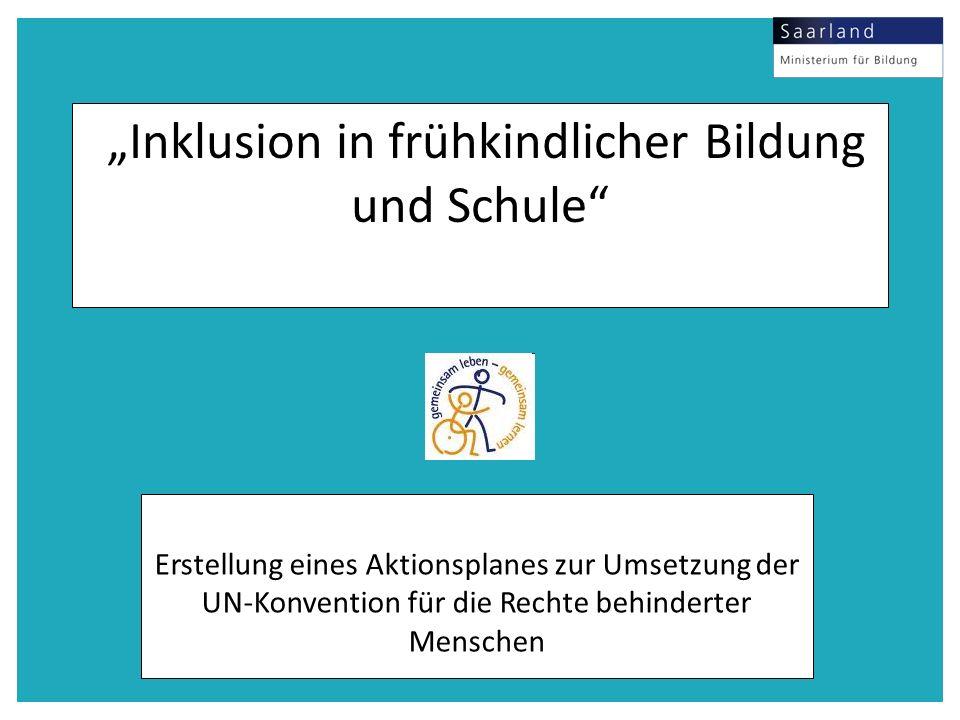 """""""Inklusion in frühkindlicher Bildung und Schule"""