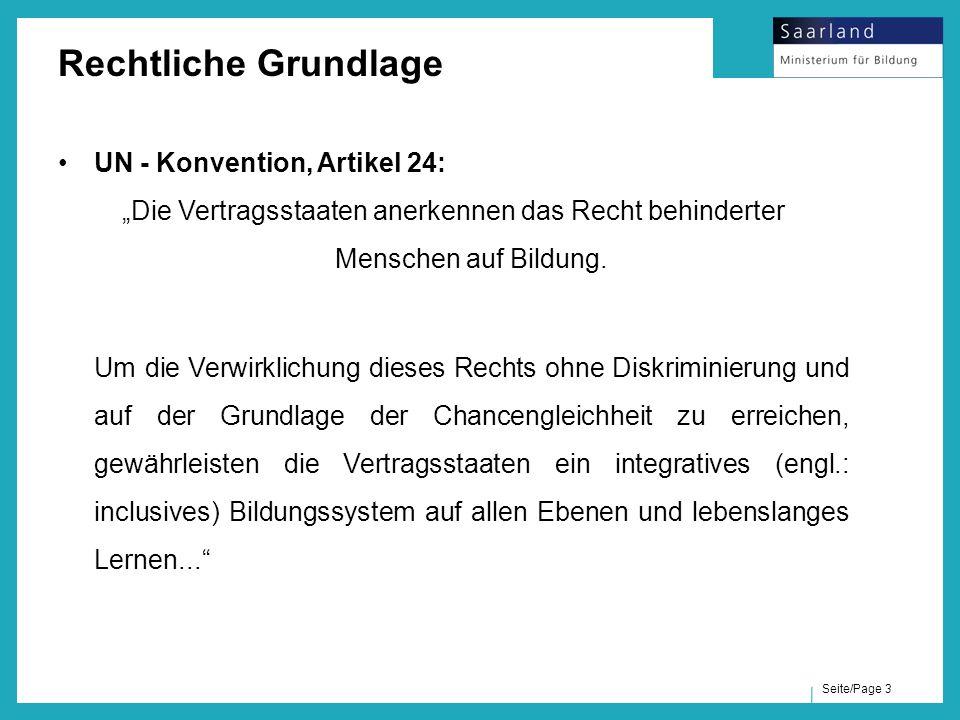 Rechtliche Grundlage UN - Konvention, Artikel 24: