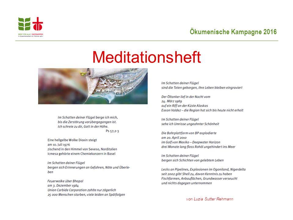 Meditationsheft von Luzia Sutter Rehmann