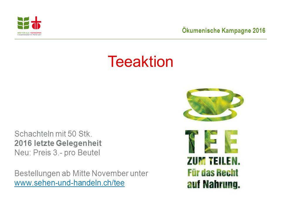 Teeaktion Schachteln mit 50 Stk.