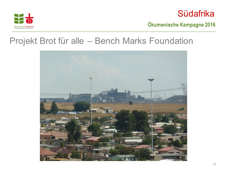 Projekt Brot für alle – Bench Marks Foundation