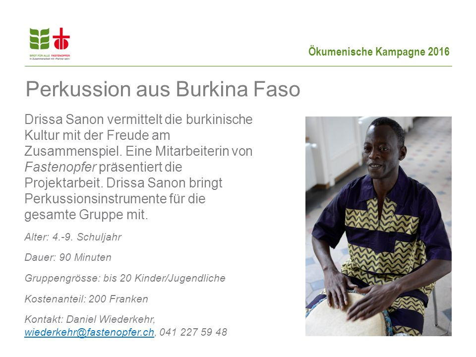 Perkussion aus Burkina Faso
