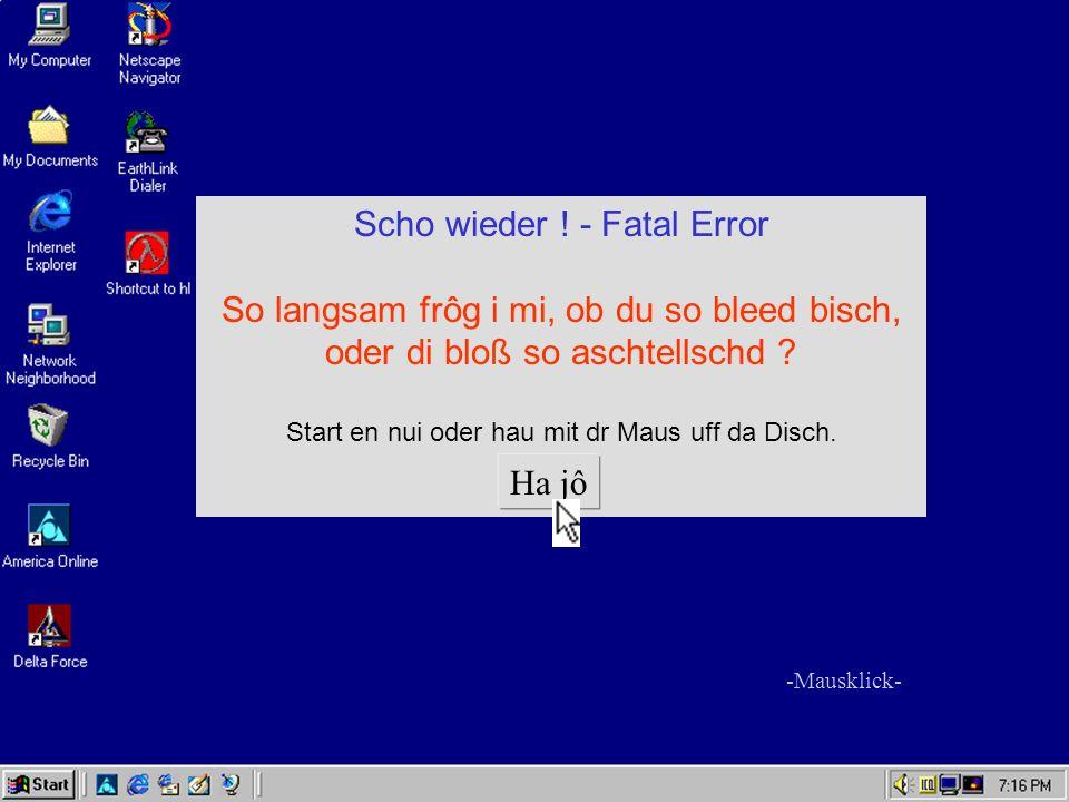 Scho wieder ! - Fatal Error