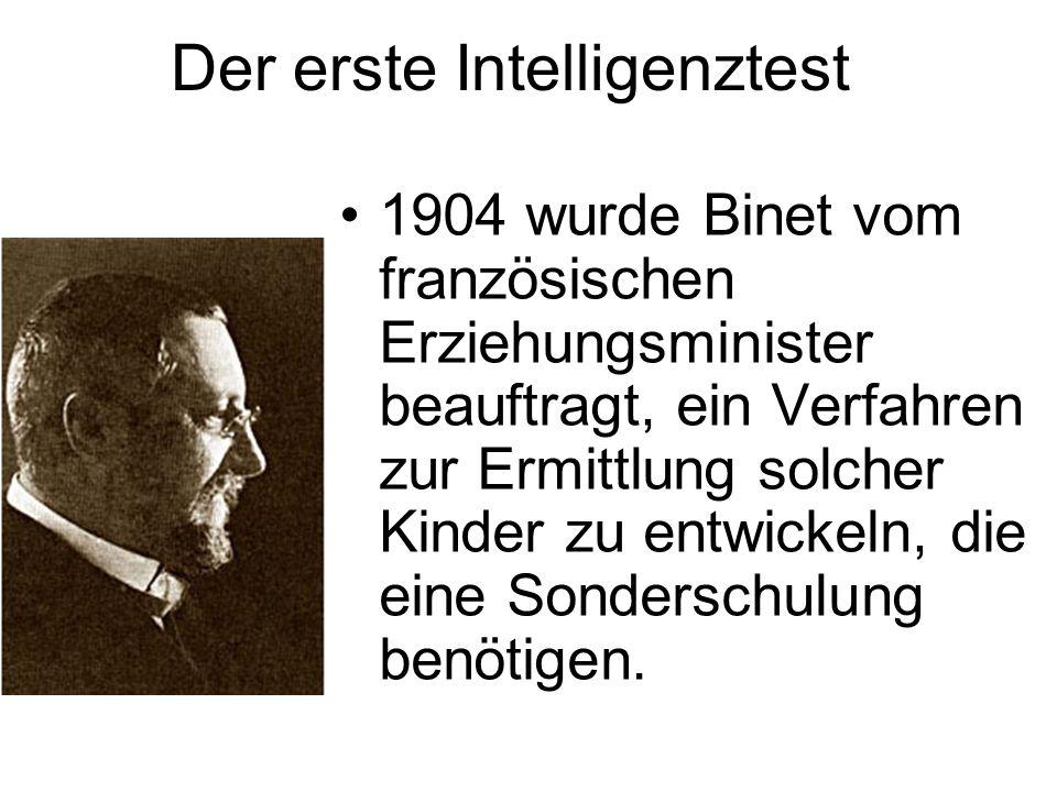 Der erste Intelligenztest