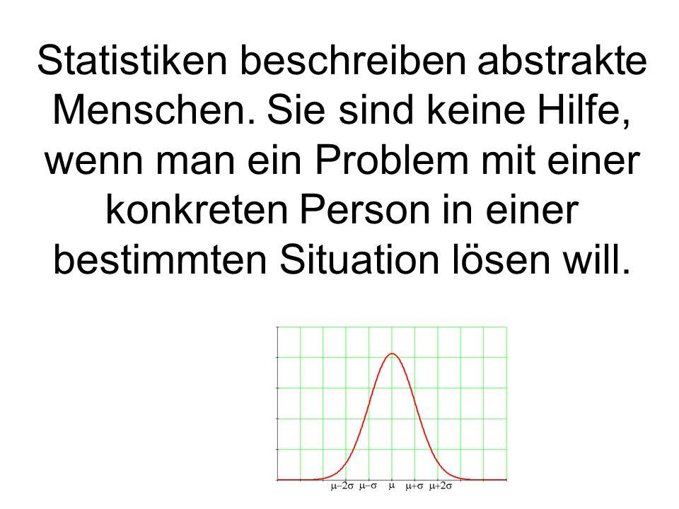 Statistiken beschreiben abstrakte Menschen