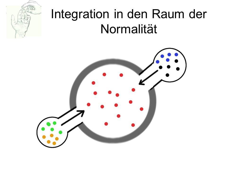 Integration in den Raum der Normalität