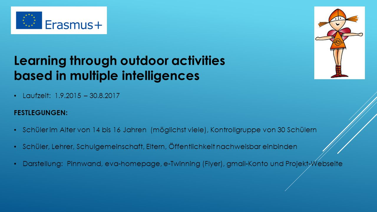 Learning through outdoor activities based in multiple intelligences