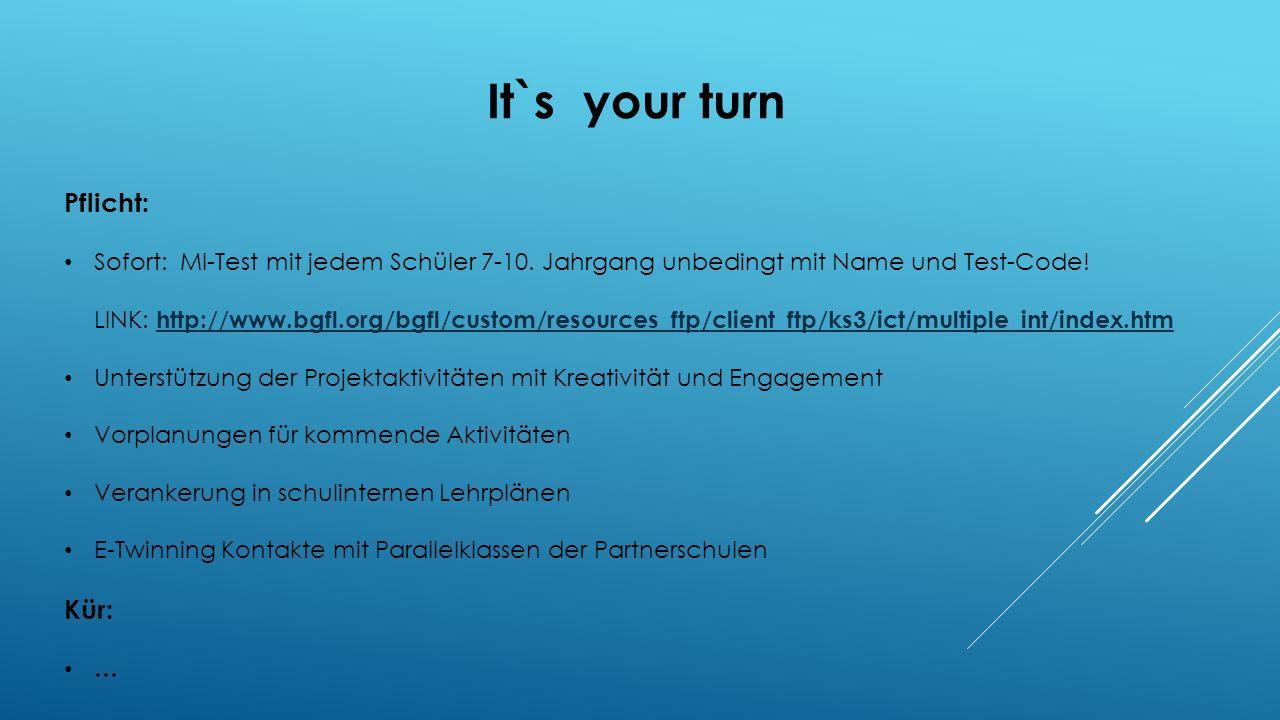 It`s your turn Pflicht: Kür: