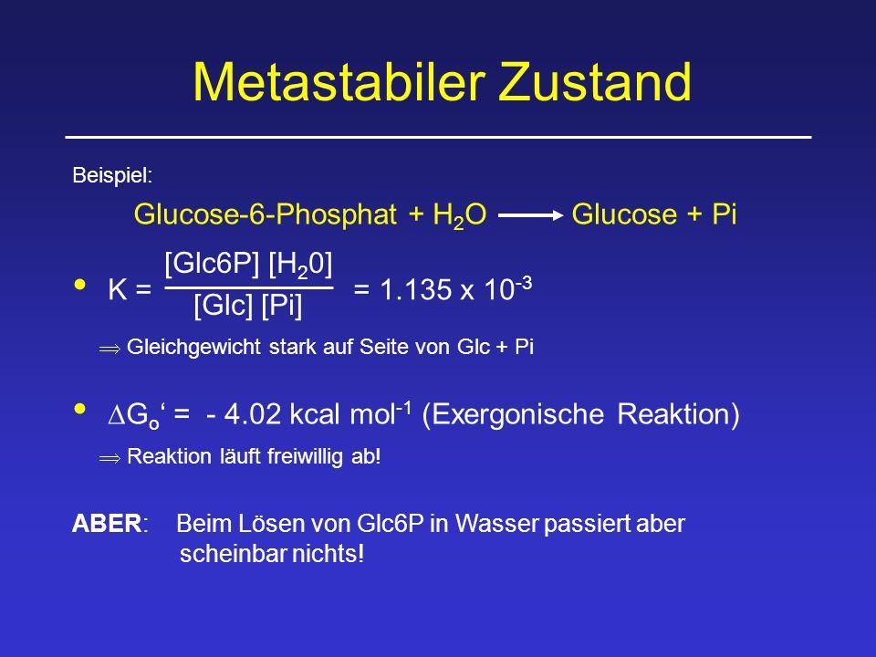 Glucose-6-Phosphat + H2O Glucose + Pi