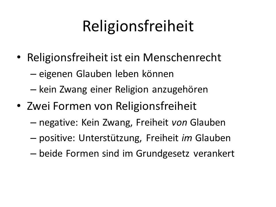 Religionsfreiheit Religionsfreiheit ist ein Menschenrecht