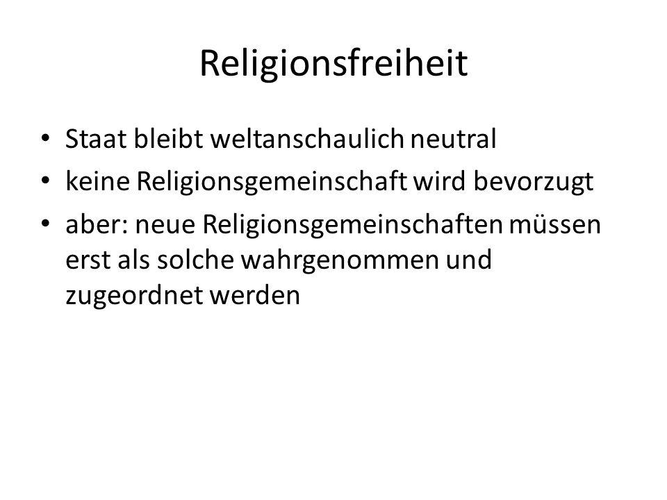 Religionsfreiheit Staat bleibt weltanschaulich neutral