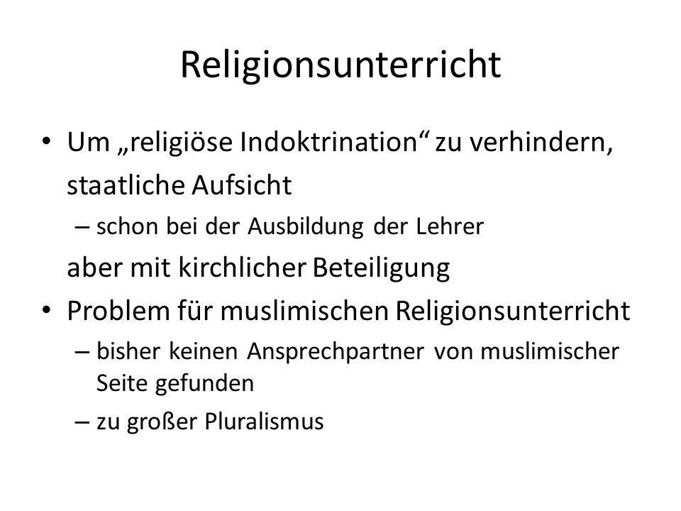 """Religionsunterricht Um """"religiöse Indoktrination zu verhindern,"""