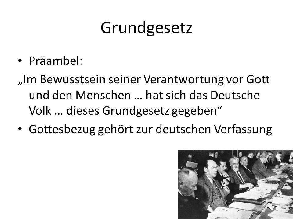 Grundgesetz Präambel: