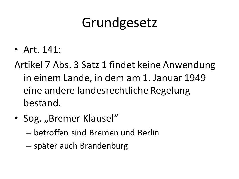 Grundgesetz Art. 141: