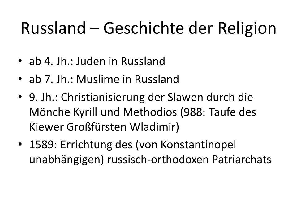 Russland – Geschichte der Religion