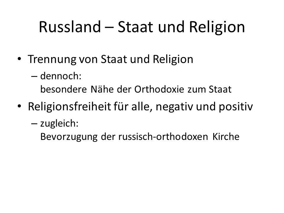 Russland – Staat und Religion