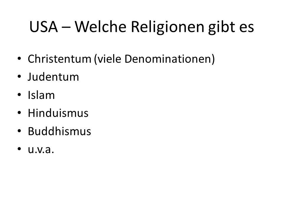 USA – Welche Religionen gibt es