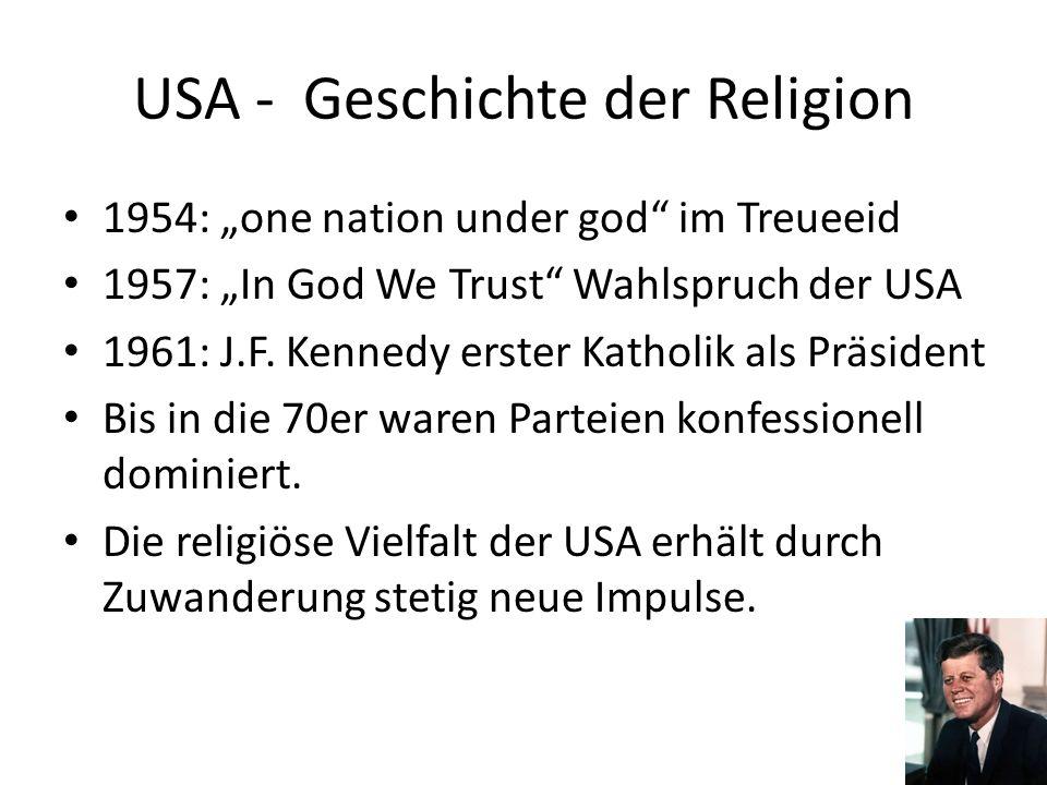 USA - Geschichte der Religion