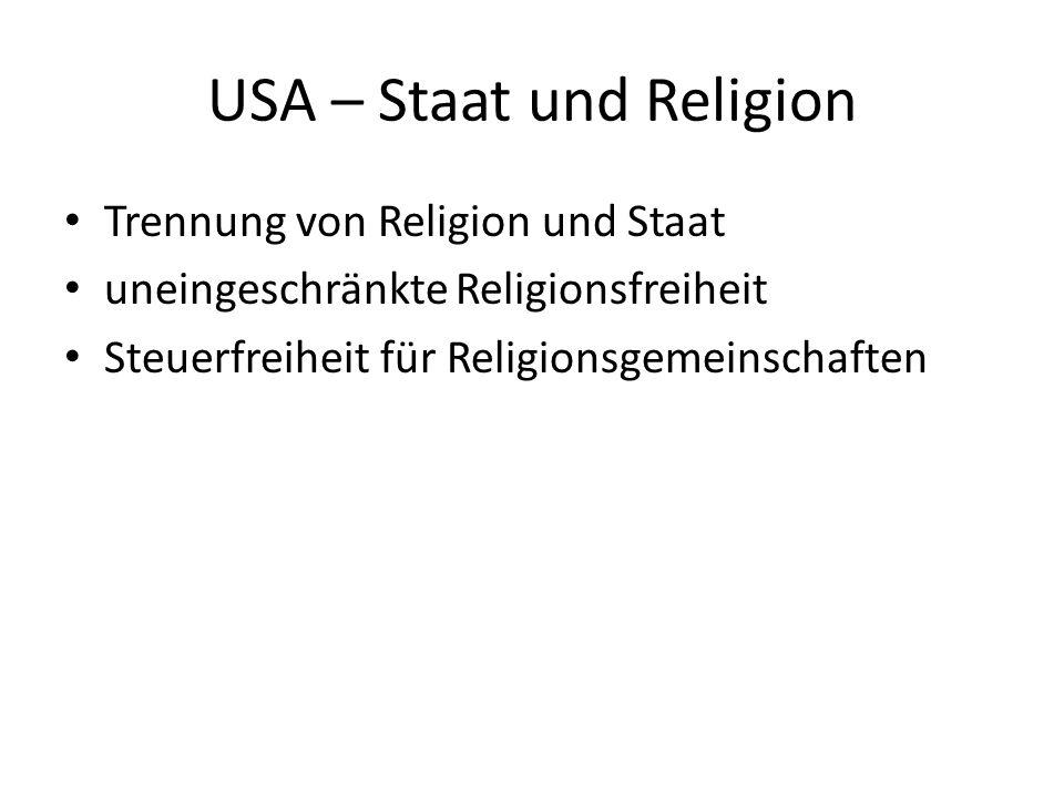 USA – Staat und Religion