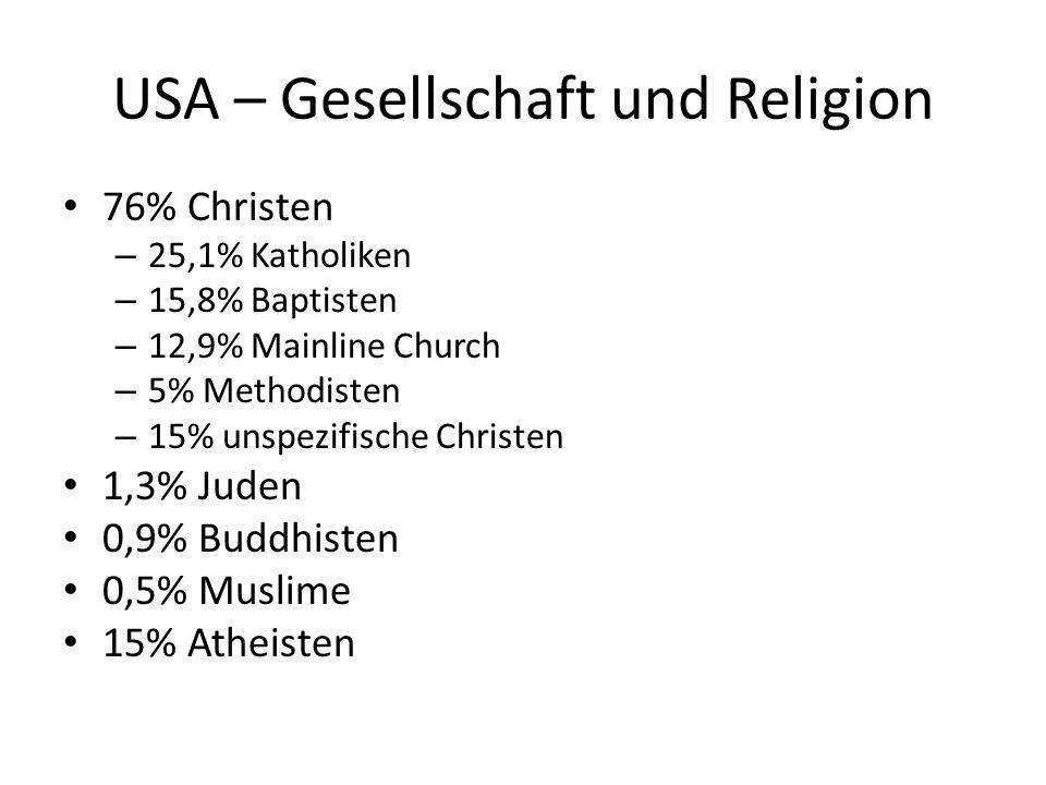 USA – Gesellschaft und Religion