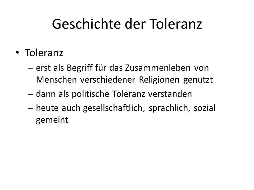 Geschichte der Toleranz