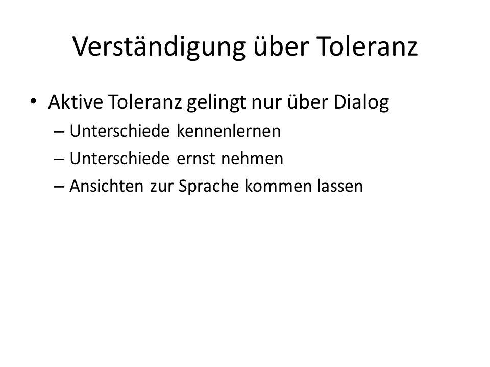 Verständigung über Toleranz