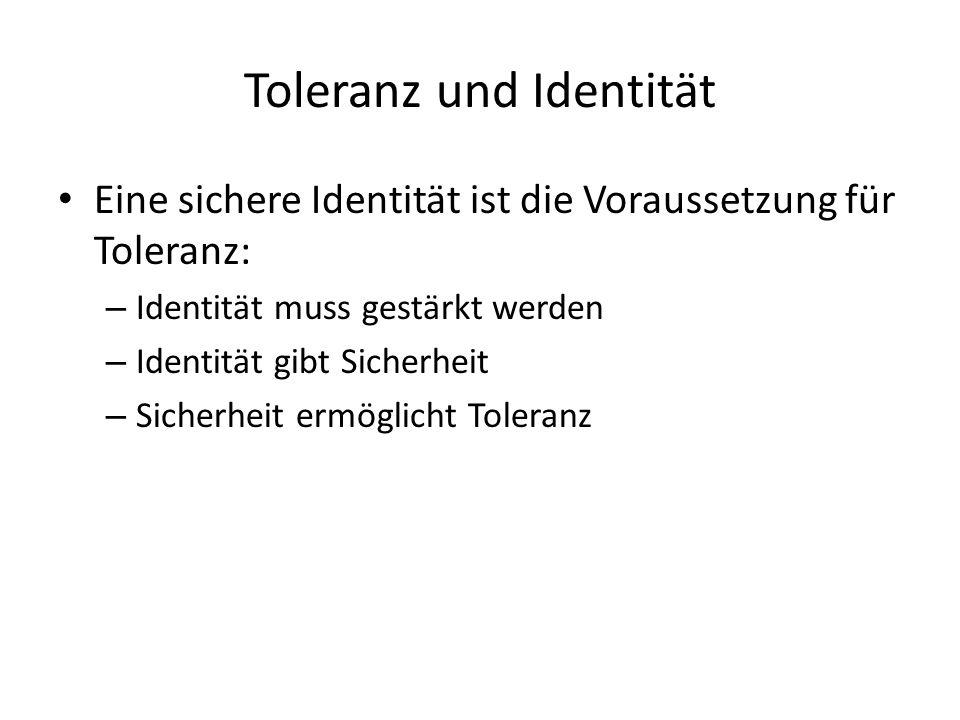 Toleranz und Identität