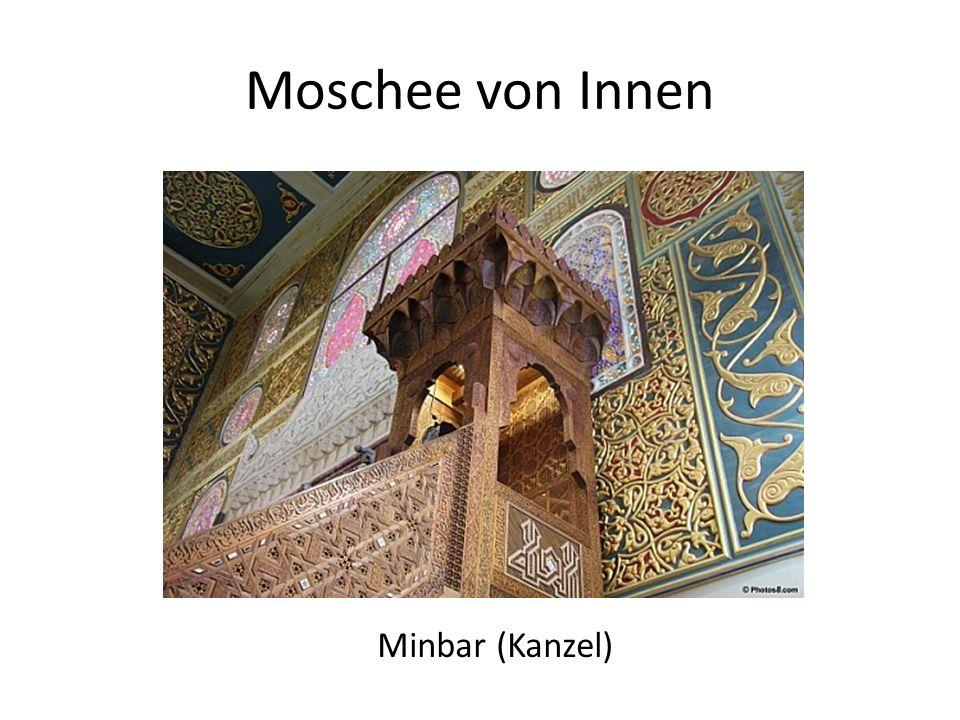 Moschee von Innen Minbar (Kanzel)