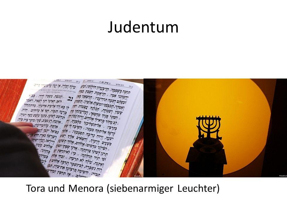 Judentum Tora und Menora (siebenarmiger Leuchter)