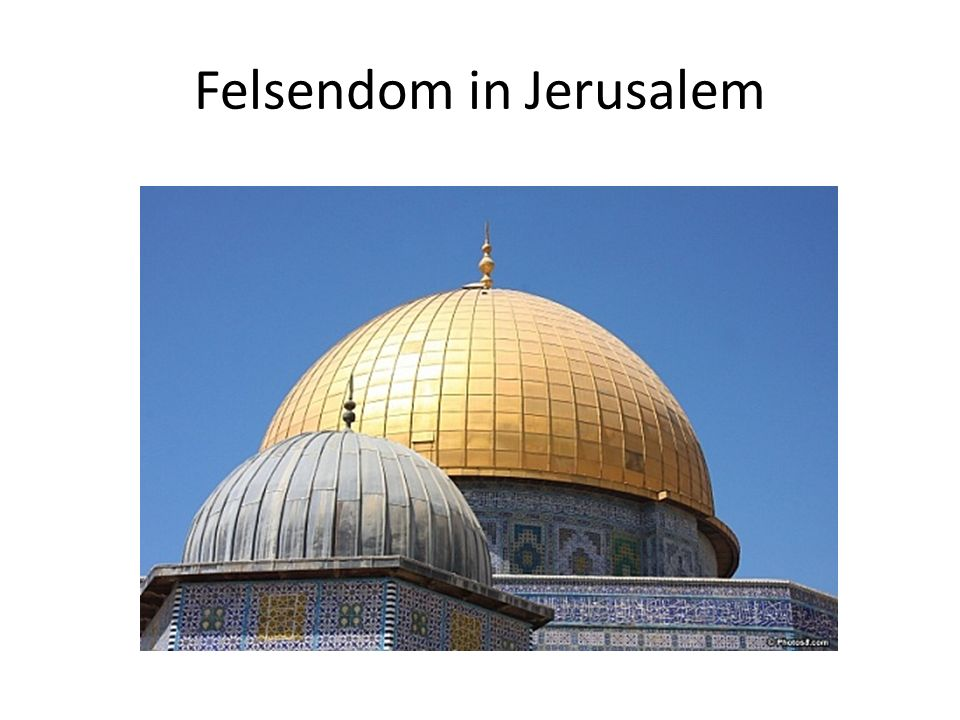Felsendom in Jerusalem