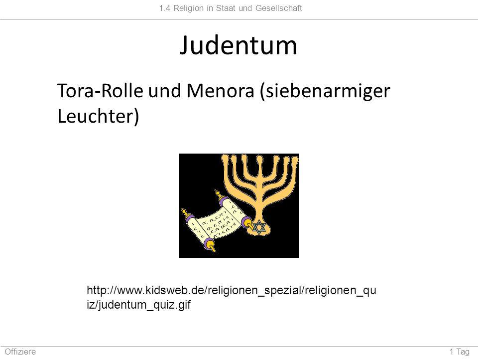Judentum Tora-Rolle und Menora (siebenarmiger Leuchter)