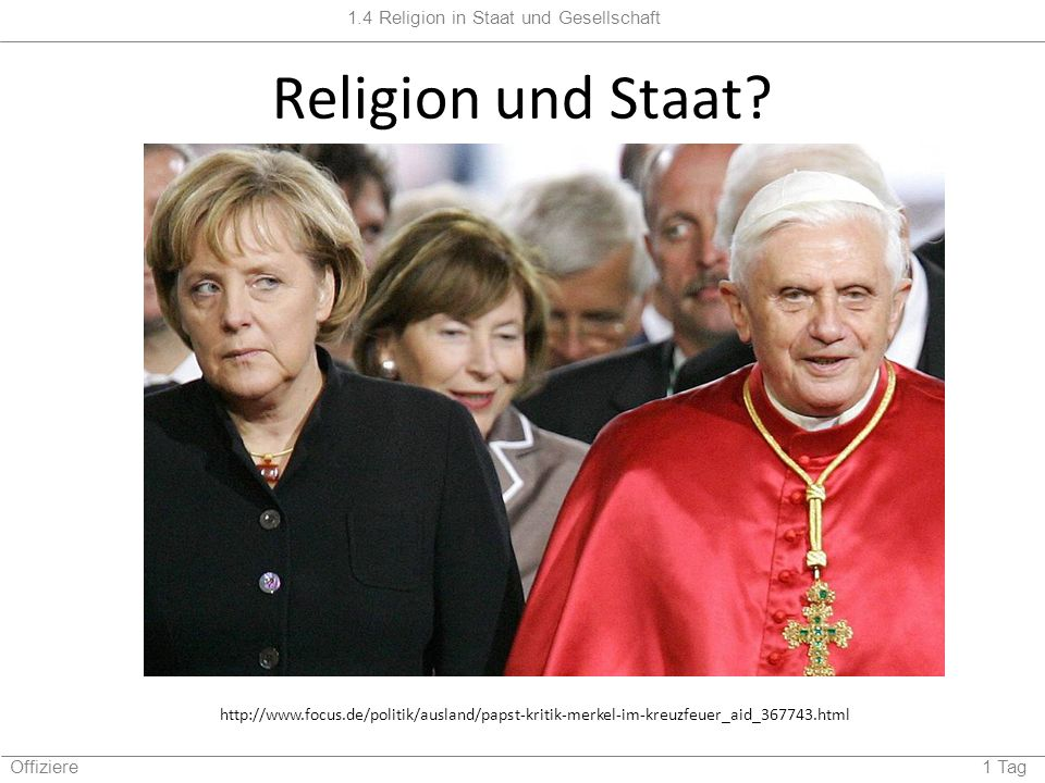 Religion und Staat.