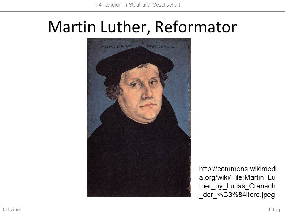 Martin Luther, Reformator