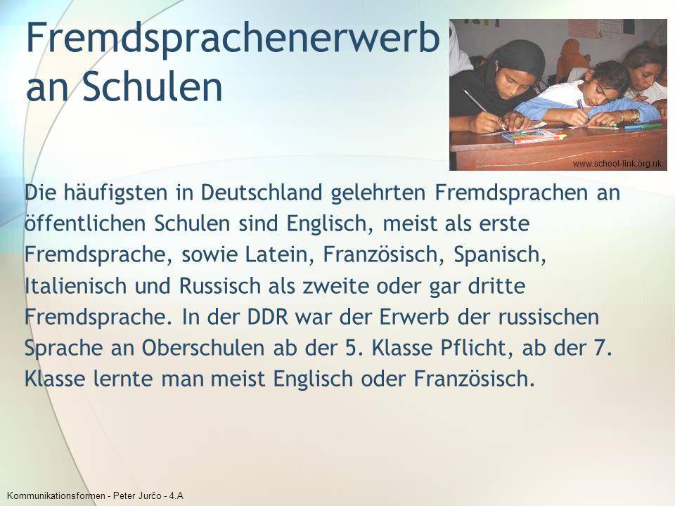 Fremdsprachenerwerb an Schulen