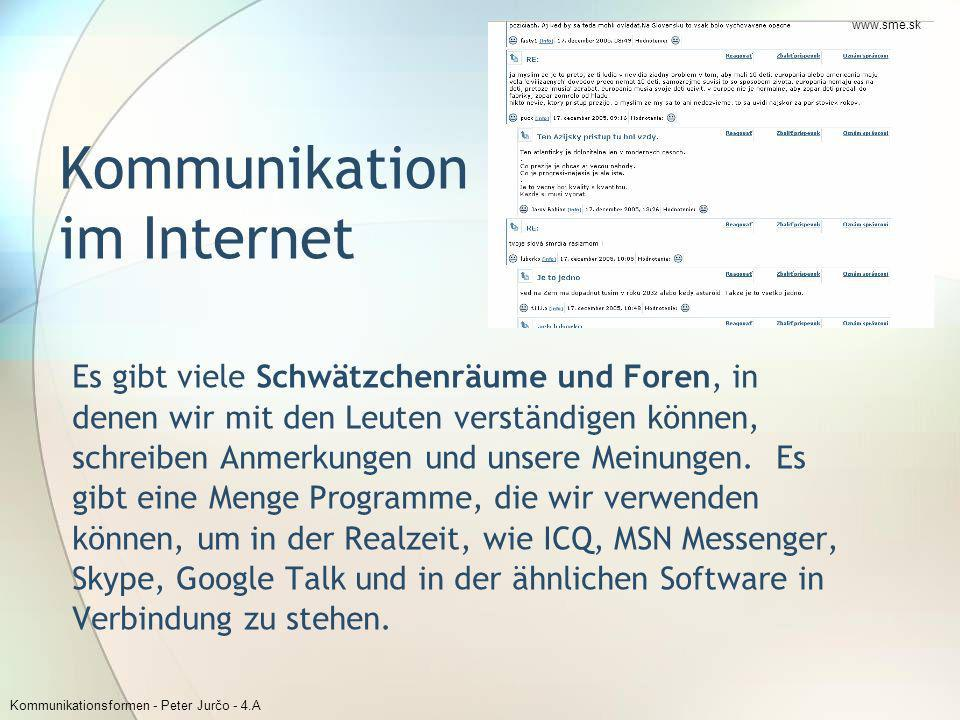 Kommunikation im Internet