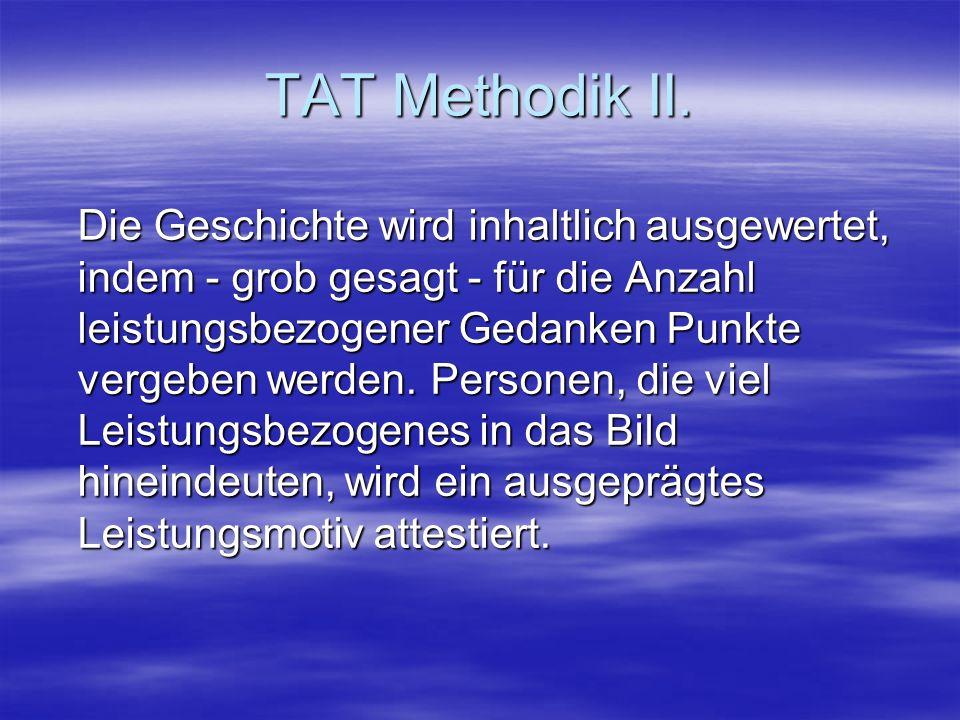 TAT Methodik II.