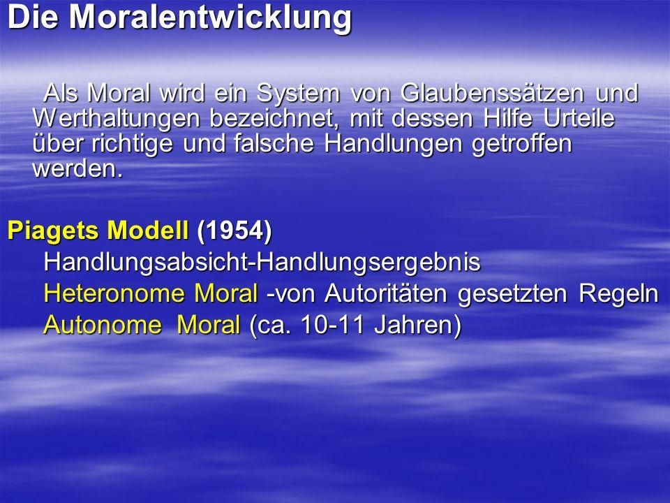 Die Moralentwicklung