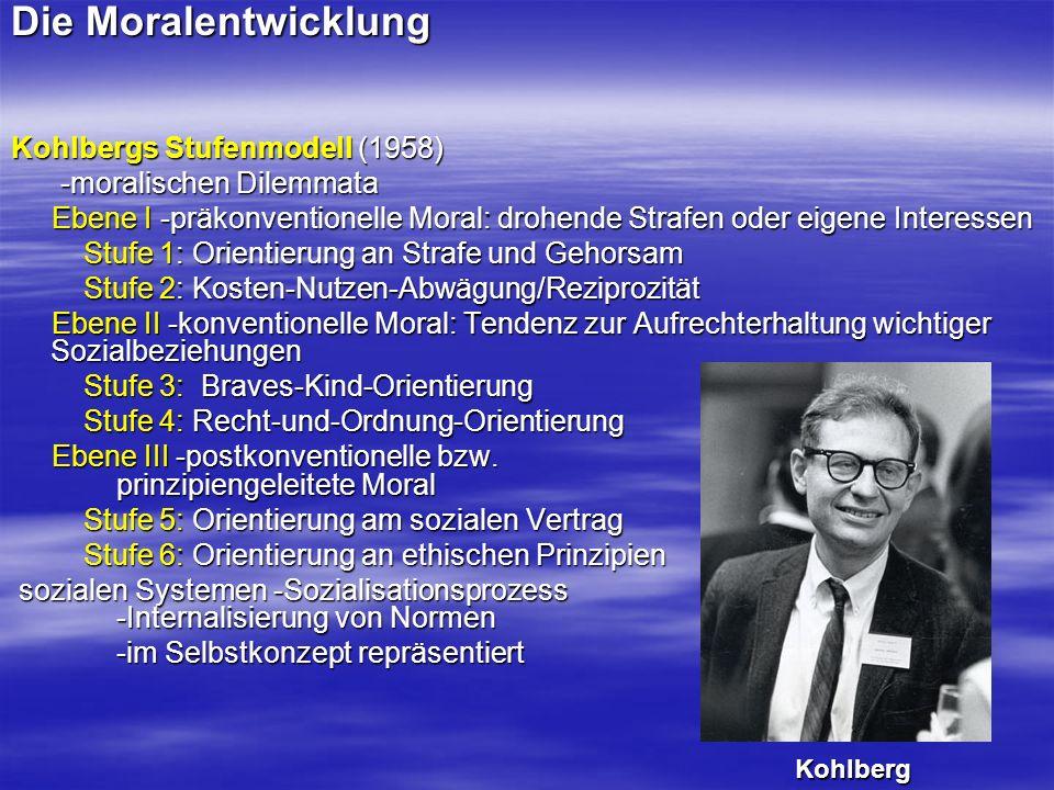 Die Moralentwicklung Kohlbergs Stufenmodell (1958)