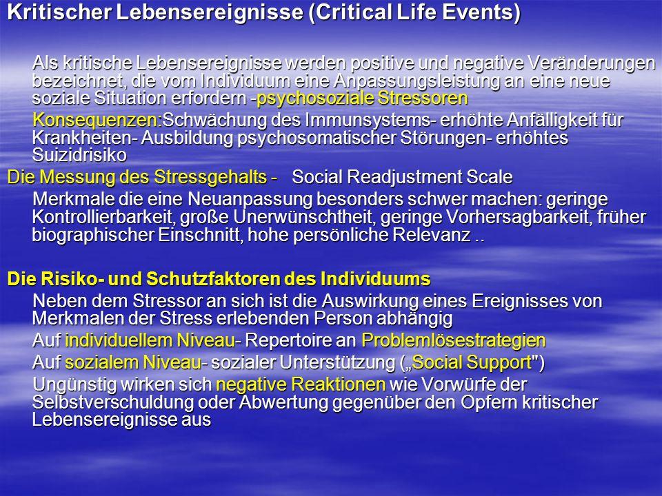 Kritischer Lebensereignisse (Critical Life Events)