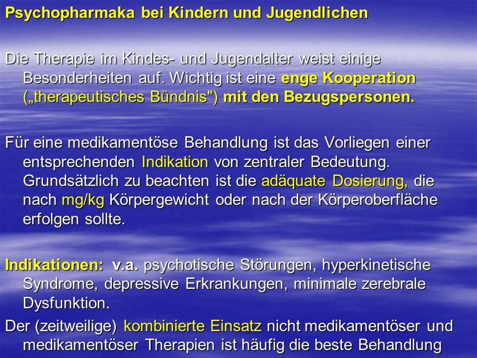 Psychopharmaka bei Kindern und Jugendlichen