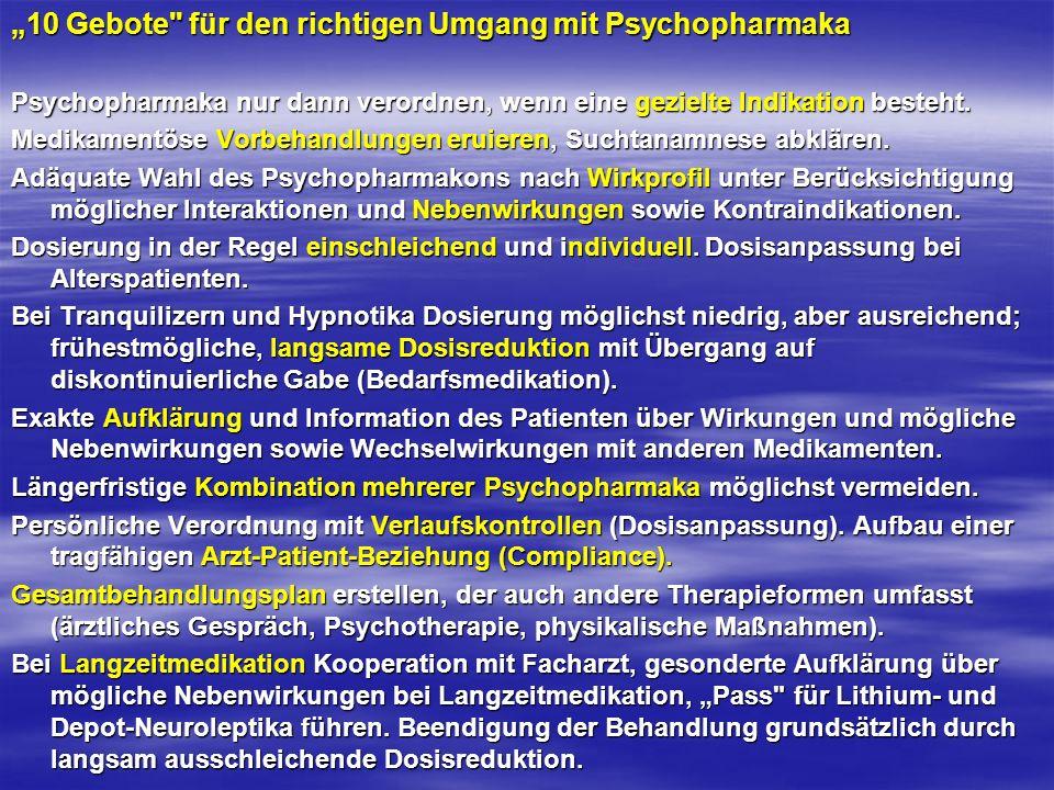 """""""10 Gebote für den richtigen Umgang mit Psychopharmaka"""