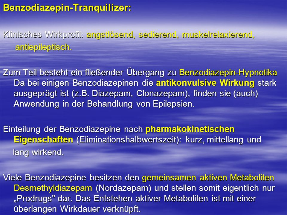 Benzodiazepin-Tranquilizer: