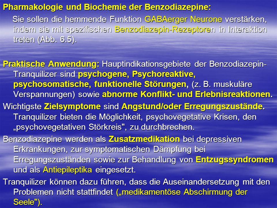 Pharmakologie und Biochemie der Benzodiazepine: