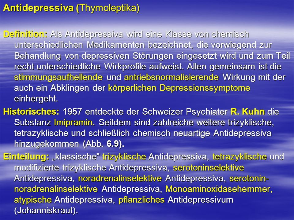Antidepressiva (Thymoleptika)