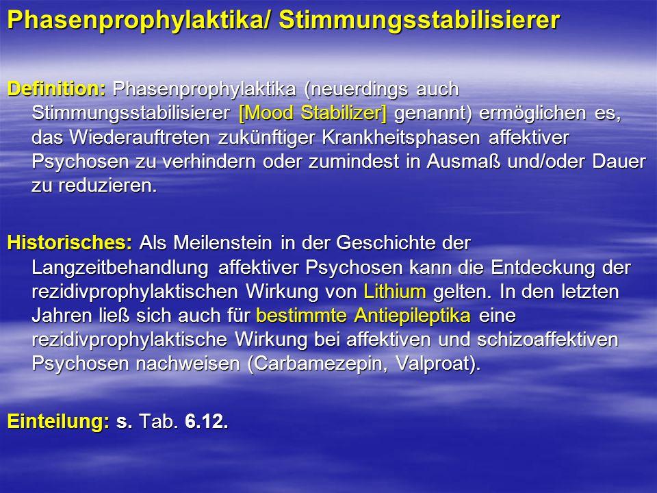 Phasenprophylaktika/ Stimmungsstabilisierer