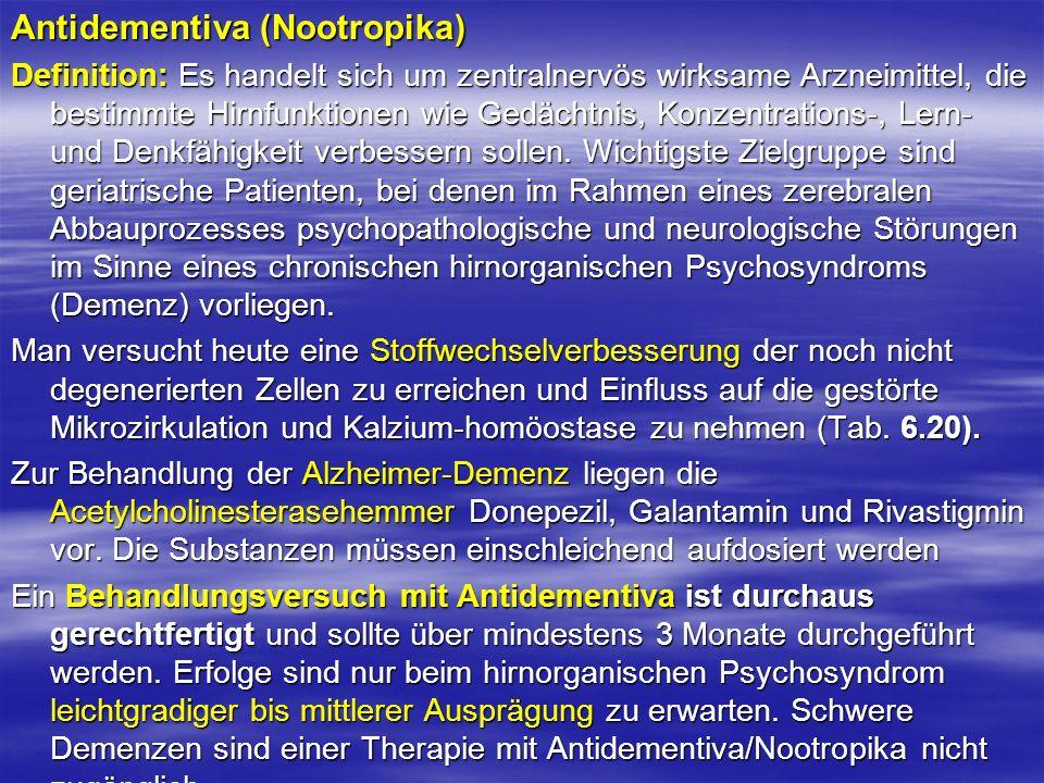 Antidementiva (Nootropika)