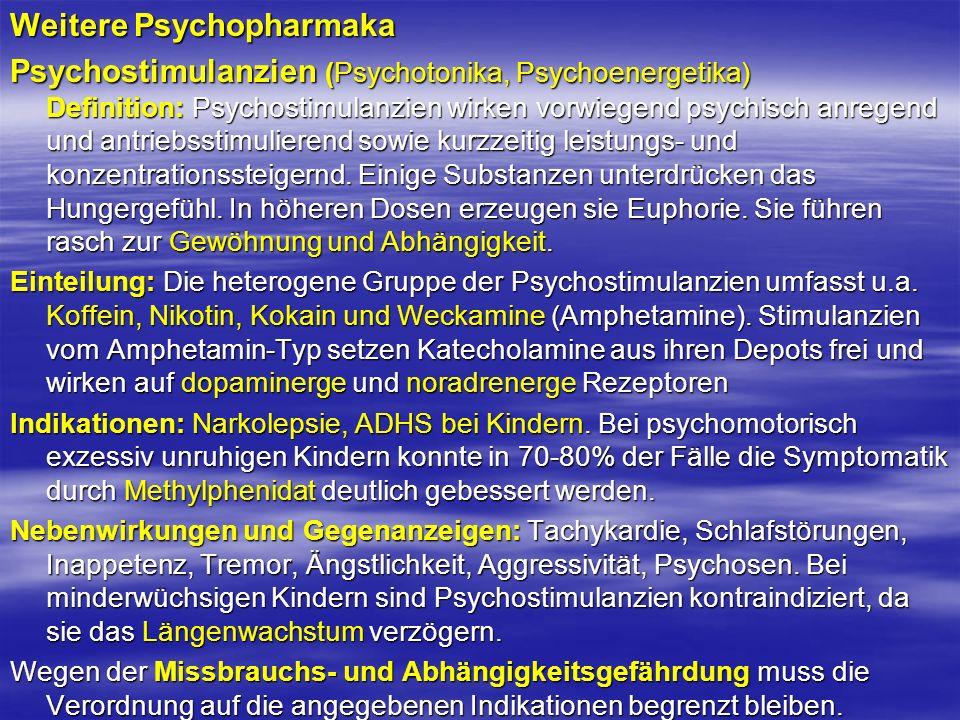 Weitere Psychopharmaka