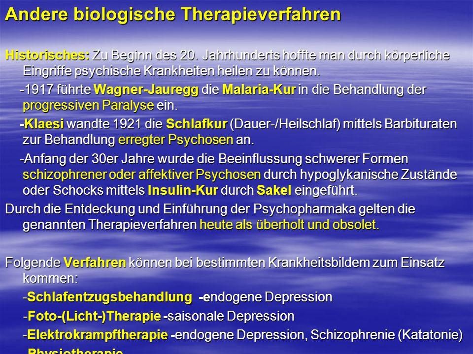 Andere biologische Therapieverfahren