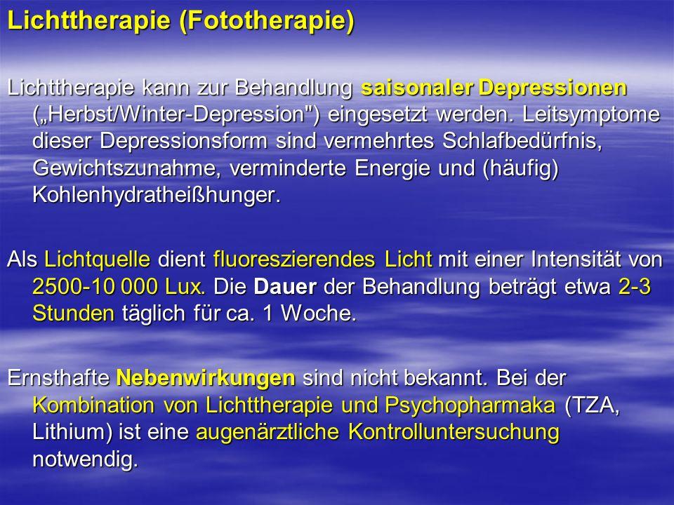 Lichttherapie (Fototherapie)